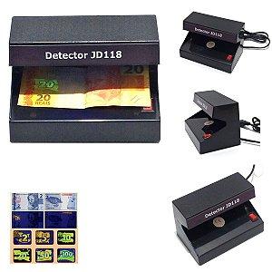 Detector de notas falsas,cartões e  documentos falsos | JD118 - Bivolt