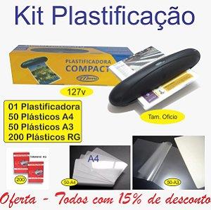 Combo Laminadora e Plastificadora Para Polaseal Bônus 300 Plásticos