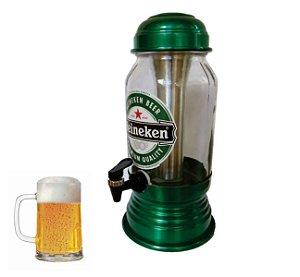 Torre Cervejeira Chopeira Heineken Vidro Capacidade 2,6 litros