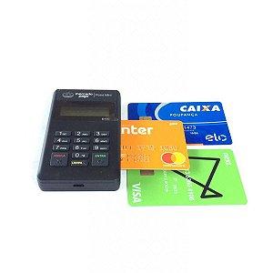 Maquina de Cartão de Crédito e Debito do Mercado Pago POINT MINI- Azul