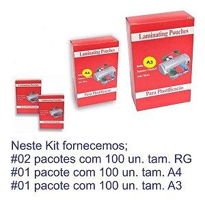 300 Plásticos para Plastificação Polaseal Tamanhos RG | A4 | A3