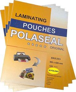 200 Plásticos para Plastificação Polaseal Tamanhos RG | A4 | A3 + 200 Espirais Diversos