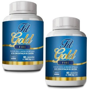 Kit Fit Gold Fire 60 cáps - 2 unidades