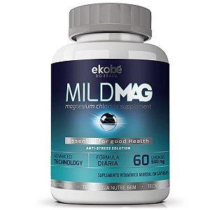 MildMag 60 cáps - Controle do Estresse e Fadiga Muscular