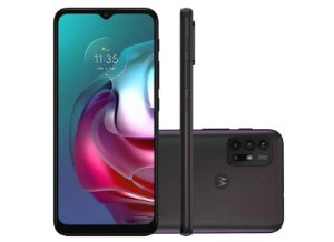 Smartphone Motorola Moto G30 128GB 4G Wi-Fi Tela 6.5'' Dual Chip 4GB RAM Câmera Quádrupla + Selfie 13MP - Dark Prism
