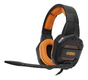FONE DE OUVIDO C/ MICROFONE OEX HEADSET CONQUEST HS406