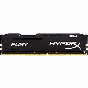 MEMORIA 8GB DDR4 2666MHZ 1.2V HYPERX FURY PRETA - DESKTOP - HX426C16FB3/8