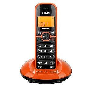 TELEFONE SEM FIO ELGIN TSF 7600 LARANJA