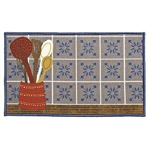 Tapete Aroeira para cozinha - Dia a Dia Ladrilhos Retro 45X75cm