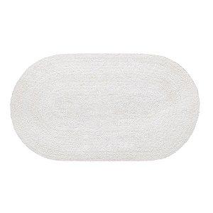 Tapete Aroeira Double - White 45X60cm  Oval