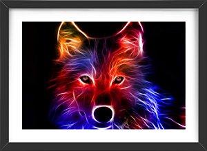 Quadro Lobo Neon