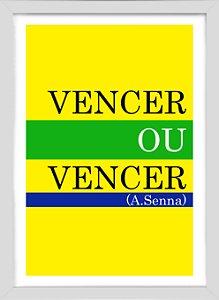 Quadro Frase Senna