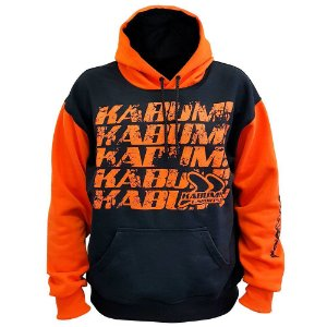 Moletom Classic Hoodie Black Orange Oficial KaBuM e-Sports com Capuz - Modelo 2018