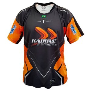 Camiseta Dry-Fit Oficial KaBuM! e-Sports 2018 Black - Orange