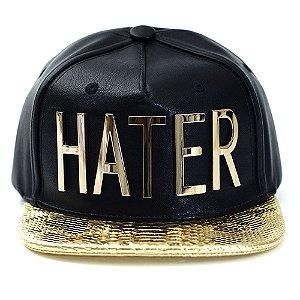 Boné Hater Snapback Aba Reta Dourado - Cap Original