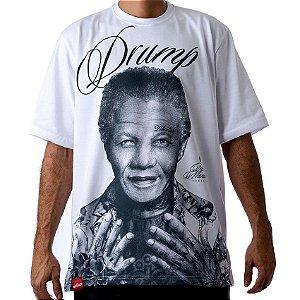 Camiseta Large Drump Masculina Nelson Mandela Branca