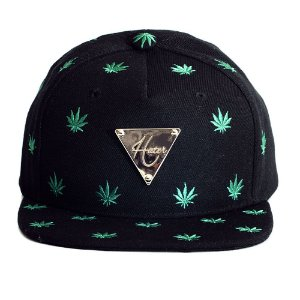 Boné Hater Snapback Aba Reta Maconha - Cannabis Sativa - Cap