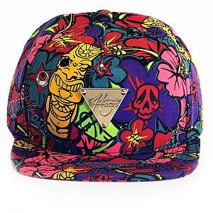 Boné Hater Snapback Aba Reta Floral - Cap Original