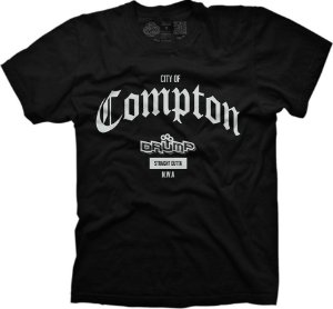 Camiseta Large Drump Masculina Compton Preta