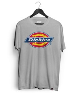 Camiseta Dickies Logo Mescla Cinza