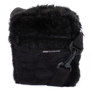MINI BOLSA SHOULDER BAG DRUMP PELUCIA PRETA
