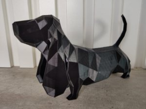 Dog Basset Hound Low poly