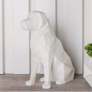 Dog Golden low poly