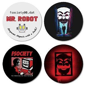 Kit porta-copos Mr. Robot
