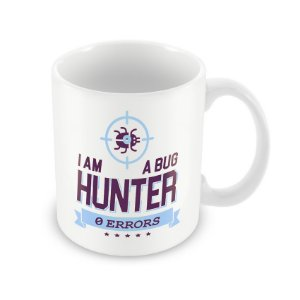 Caneca Bug Hunter Zero Errors