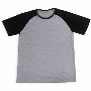 Camisa personalizada raglan cinza - Personalize a sua