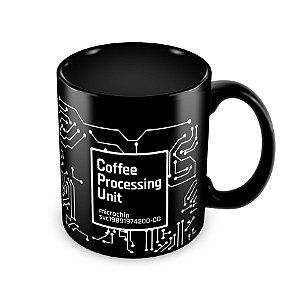 Caneca CPU Coffee Processing Unit Preta