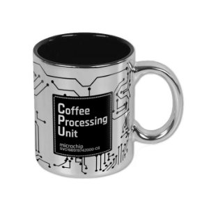 Caneca CPU Coffee Processing Unit Prata