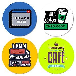 Kit porta-copos Hello World