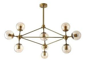 PENDENTE JABUTICABA 10 LAMPADAS BRONZE - LL3027B -MB DECOR