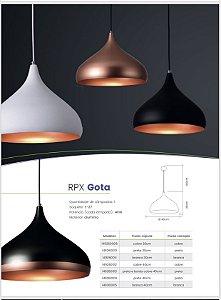 Pendente RPX gota 30cm cobre. (4861)