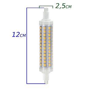 Lâmpada LED palito longa R7s 9w 3000k - bivolt. (1528)