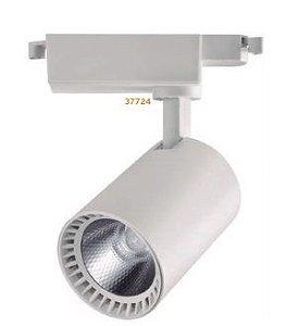 Spot Trilho 10W 3000k Branco Fosco