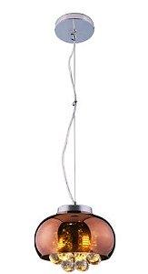 Pendente de cristal Attractive Mini Cobre 2L G9 - Startec (3967)