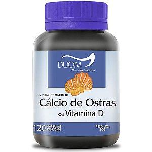 Cálcio de Ostras c/ Vit D 120cps 750mg Duom