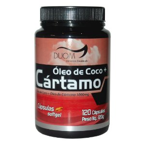 Óleo de Cártamo c/ Óleo de Coco 120cps 1000mg