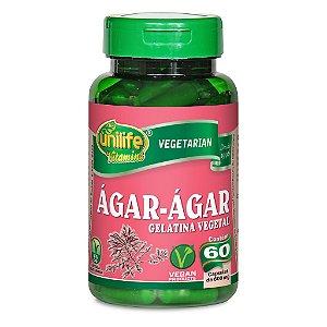 Agar Agar - Gelatina Vegetal 60cps 600mg