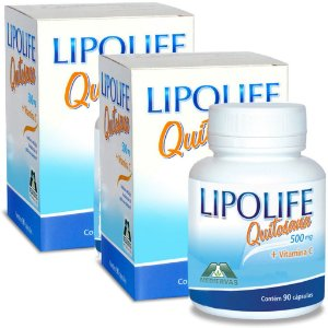 Kit 2 Und Quitosana Vit C Lipolife 90 caps 500mg