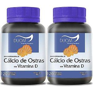 Kit 2 Und Cálcio de Ostras c/ Vit D 120cps 750mg