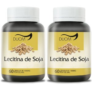 Kit 2 Und Lecitina de Soja 60cps 1000mg Duom
