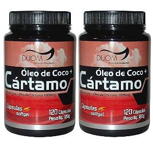 Kit 2 Und Óleo de Cártamo c/ Óleo de Coco 120cps 1000mg Duom