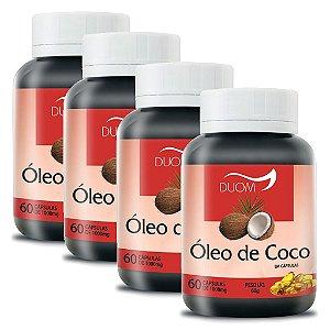 Kit 4 Und Óleo de Coco 60cps 1000mg Duom