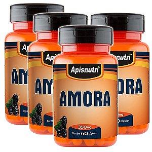 Kit 4 Und Amora 60cps 350mg Apisnutri