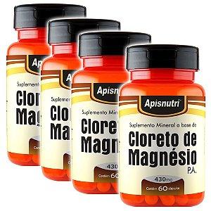 Kit 4 Und Cloreto de Magnésio P.A. 60cps 430mg
