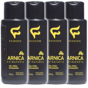 Kit 4 Und Gel para Massagem Arnica Extra Forte 200g Fashion