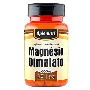 Magnésio Dimalato 60cps 600mg Apisnutri